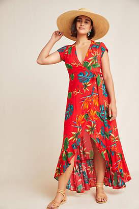 XIX Palms Santiago Wrap Maxi Dress