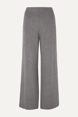 LESET - Lori Brushed Stretch-jersey Wide-leg Pants - Gray