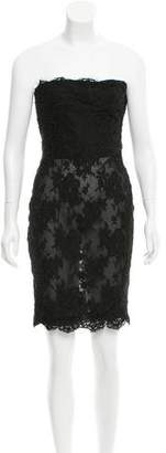 Calvin Klein Strapless Sheer Dress