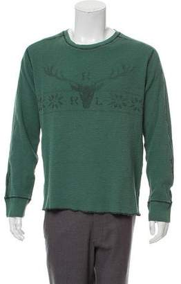 Co RRL & Printed Waffle Knit Shirt