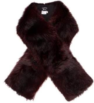 Lanvin Dyed Fur Stole w/ Tags