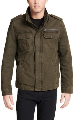 Levi's Levis Men's Stand Collar Military Jacket