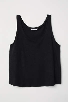 H&M Short Tank Top - Black