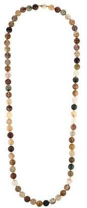 14K Quartz Bead Necklace