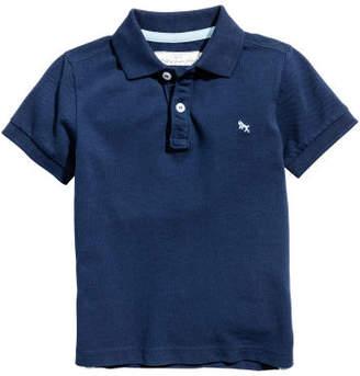 H&M Pique Polo Shirt - Blue