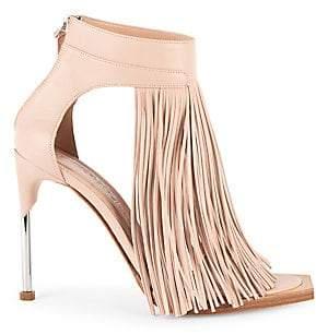 7765fb67b69 Alexander McQueen Women s Leather Fringe Ankle-Strap Sandals