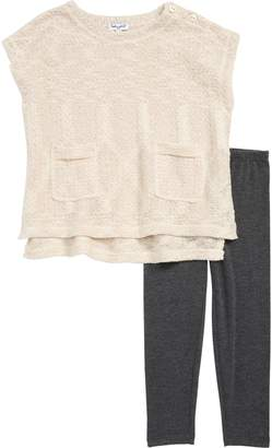 Splendid Boxy Sparkle Sweater & Leggings Set