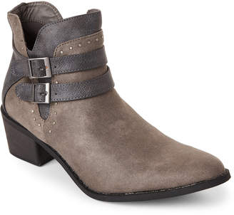 Mia Grey Henrietta Pointed Toe Ankle Boots