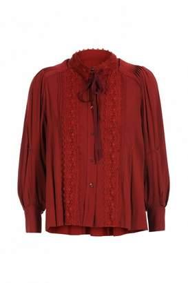 High Memory Tie Neck Shirt - 8