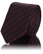 Givenchy Men's Lightning Bolt Silk Faille Necktie - Black