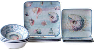 Certified International Ocean Dream Melamine 12-Pc. Dinnerware Set, Service for 4