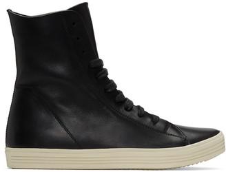 Rick Owens Black Mastodon High-Top Sneakers $995 thestylecure.com