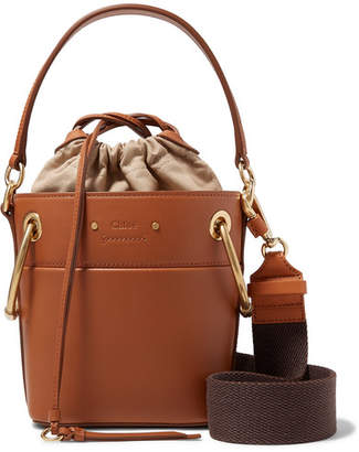 Chloé Roy Mini Leather Bucket Bag - Light brown