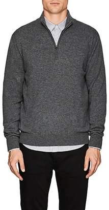Barneys New York Men's Cashmere Quarter-Zip Sweater - Charcoal
