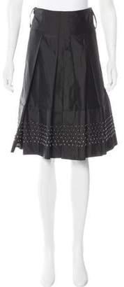 Thomas Wylde Silk Embellished Skirt
