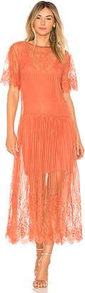 FARM Lace Midi Dress