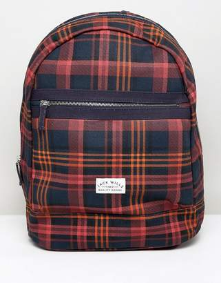 Jack Wills check backpack