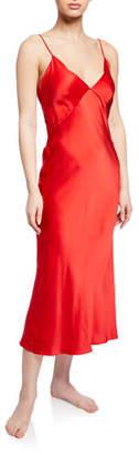 Olivia von Halle Issa Scarlet Silk Nightgown