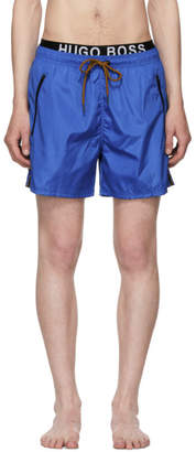 BOSS Blue and Orange Thornfish Swim Shorts
