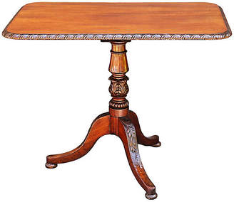 One Kings Lane Vintage 19th-C. English Mahogany Table - Faded Rose Antiques LLC