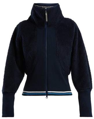 adidas by Stella McCartney Train High Neck Fleece Jacket - Womens - Navy Multi