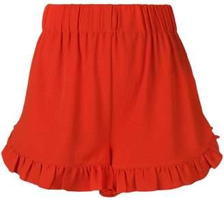 Ganni ruffled trim shorts