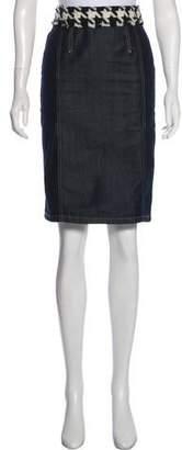 Dolce & Gabbana Denim Knee Length Skirt