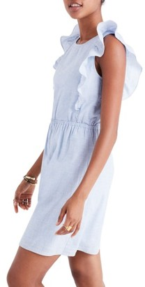 Women's Madewell Bellflower Ruffle Dress $118 thestylecure.com