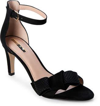 Tahari Black Newton Ankle Strap Sandals