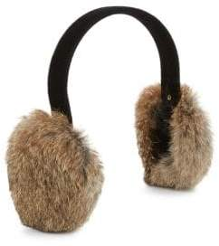 Surell Rabbit Fur Earmuffs