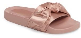 Women's Topshop Halo Bow Slide Sandal $32 thestylecure.com