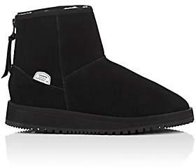 Suicoke Women's Sherpa-Lined Waterproof Suede Ankle Boots - Black