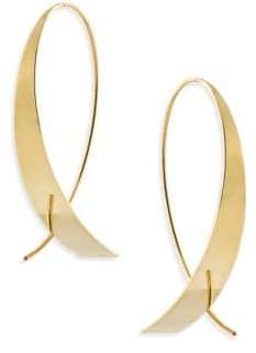 Lana Bond Small Gloss 14K Yellow Gold Upside Down Hoop Earrings