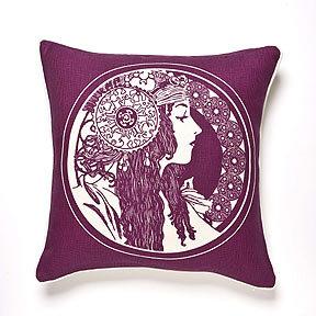 Thomas Paul Sarah Beet Linen Pillow