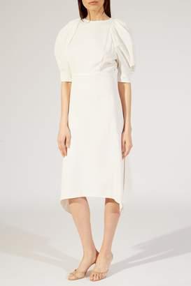 Khaite The Cynthia Dress In Ivory