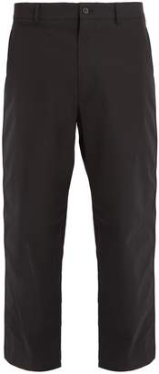 Alexander McQueen Mid-rise wide-leg cotton chino trousers