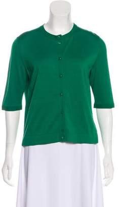 Akris Short Sleeve Button-Up Cardigan