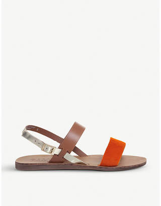 Office Honey pony and leather slingback sandals
