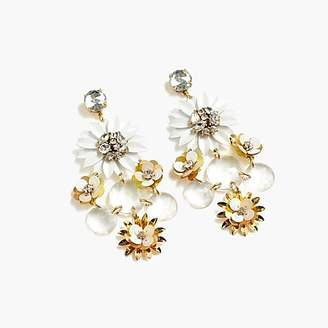 J.Crew Sequin flower earrings