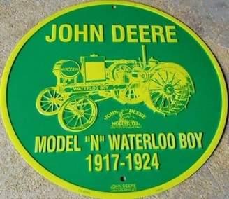 """Diesel John Deere Model """"N"""" Metal Sign"""