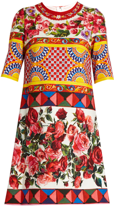 DOLCE & GABBANA Carretto-print textured cotton-blend dress $1,995 thestylecure.com