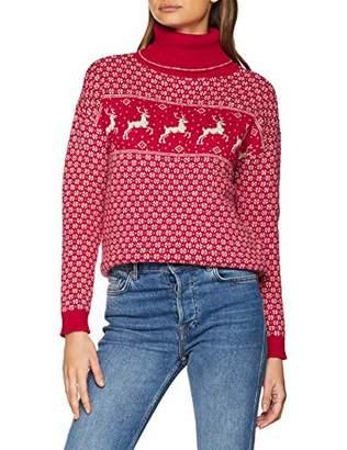 2d75cc26a63 Fat Face Women's Reindeer Roll Neck Jumper