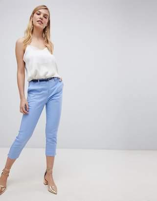 Oasis slim leg cropped pants in blue