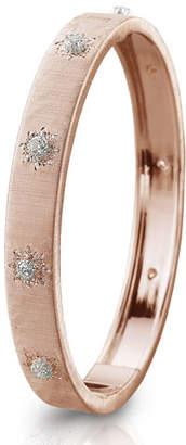 Buccellati Macri Classica 18k Pink Gold Diamond Bangle