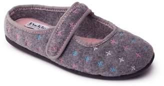 Padders - Grey 'Heidi' Women's Felt Memory Foam Slippers