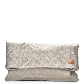 Louis Vuitton Clutch Limelight Monogram Metallic GM Perle