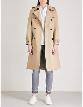 Claudie Pierlot Double-breasted cotton trench coat
