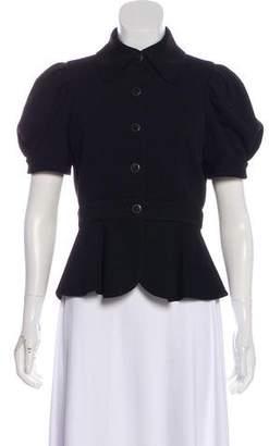 Diane von Furstenberg Wool Short Sleeve Cardigan