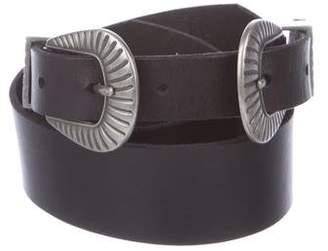 Linea Pelle Leather Buckle Belt w/ Tags