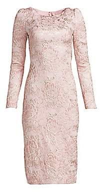 Theia Women's Metallic Jacquard Cocktail Dress